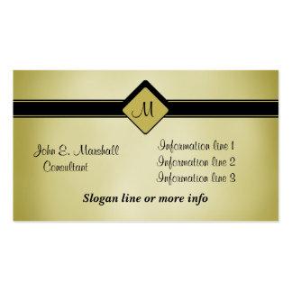 Cartão de visita dado polimento do monograma do
