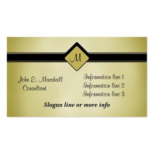 Cartão de visita dado polimento do monograma do pr