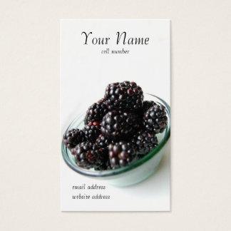 Cartão de visita das amoras-pretas