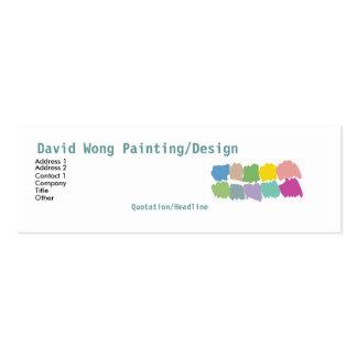 Cartão de visita das amostras de folha do pincel d