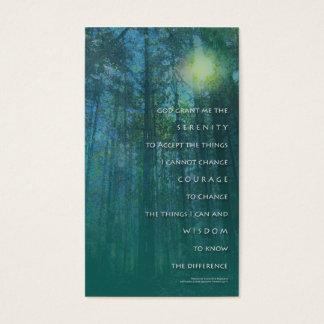 Cartão de visita das árvores altas da oração da