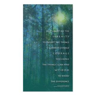 Cartão de visita das árvores altas da oração da se
