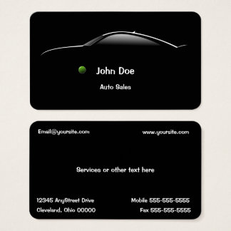 Cartão de visita das auto vendas do carro do