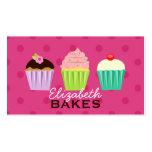 Cartão de visita das bolinhas do trio dos cupcakes