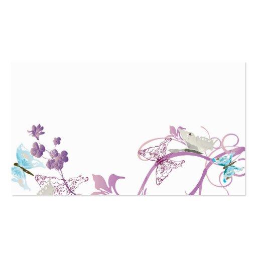 Cartão de visita das borboletas