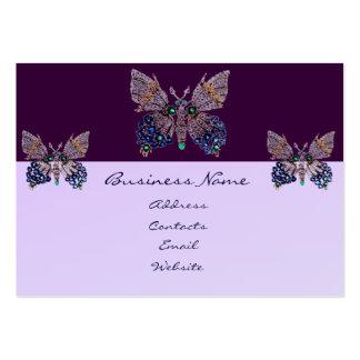 Cartão de visita das borboletas da jóia