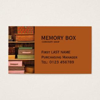 Cartão de visita das caixas