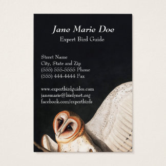 Cartão de visita das corujas de celeiro de John