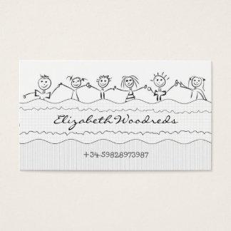 cartão de visita das crianças