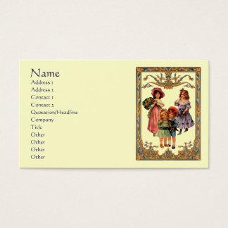 Cartão de visita das crianças do Victorian da arte