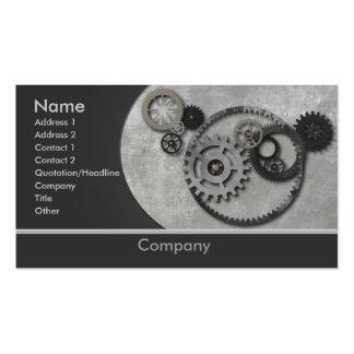 Cartão de visita das engrenagens