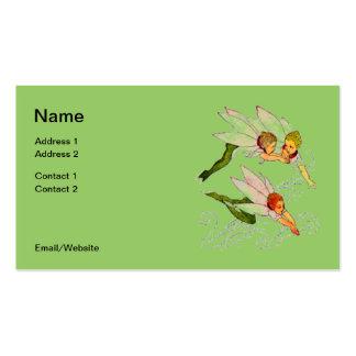 Cartão de visita das fadas do vôo