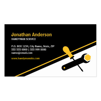 Cartão de visita das ferramentas de funcionamento