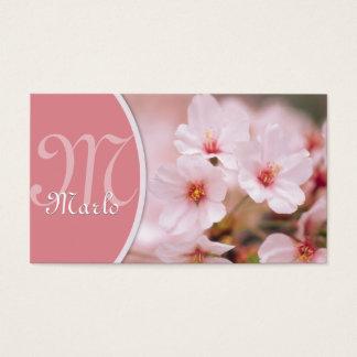 Cartão de visita das flores de cerejeira