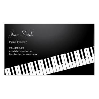 Cartão de visita das lições de piano do teclado de