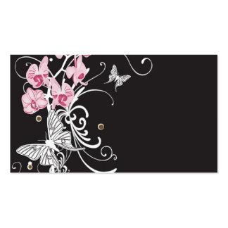 Cartão de visita das orquídeas