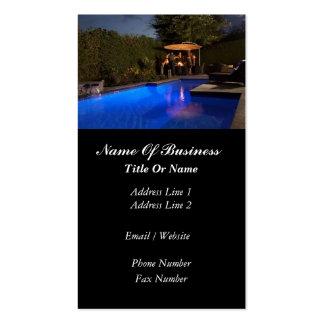 Cartão de visita das piscinas