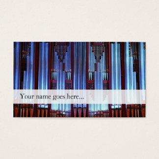 Cartão de visita das tubulações de órgão -