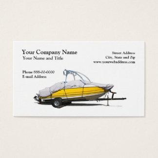 Cartão de visita das vendas do barco