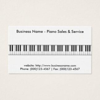 Cartão de visita das vendas do piano: Modelo do