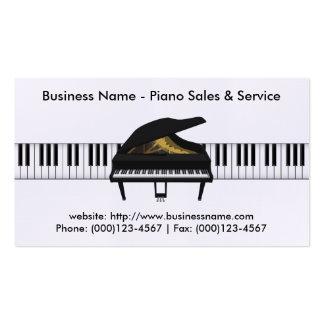 Cartão de visita das vendas do piano: Modelo do pi