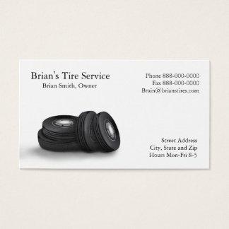 Cartão de visita das vendas do pneu