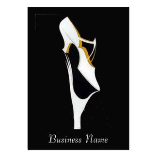 Cartão de visita das vendas dos calçados