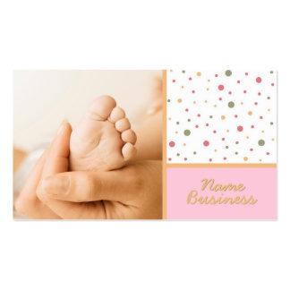 Cartão de visita de 5 dedos do pé
