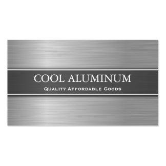 Cartão de visita de aço/de alumínio do efeito