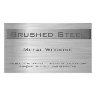 Cartão de visita de aço escovado