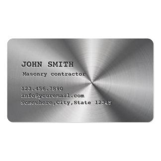 Cartão de visita de aço inoxidável da alvenaria do