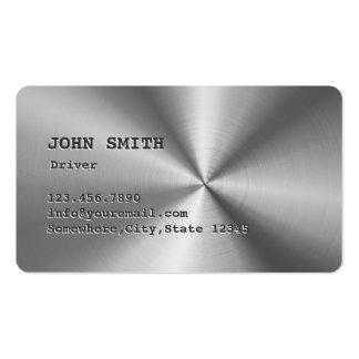 Cartão de visita de aço inoxidável do motorista do