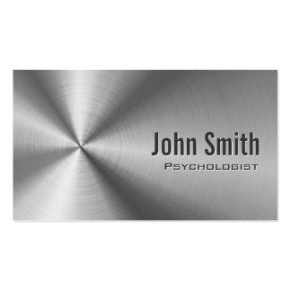 Cartão de visita de aço inoxidável do psicólogo