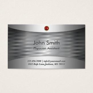 Cartão de visita de aço luxuoso do assistente do