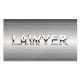 Cartão de visita de aço profissional do advogado d