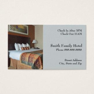 Cartão de visita de alojamento do motel do hotel