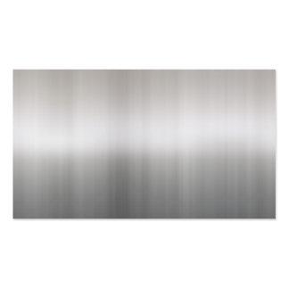 cartão de visita de alumínio escovado brilhante