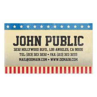 Cartão de visita de América do vintage