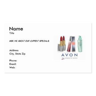 Cartão de visita de Avon