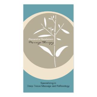 Cartão de visita de bambu da terapia da massagem d