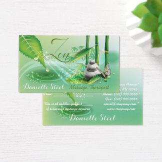 Cartão de visita de bambu do presente do terapeuta