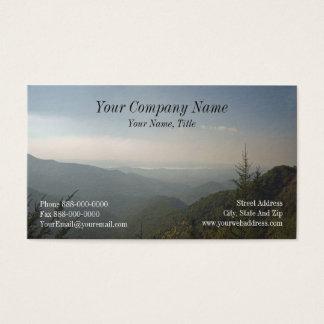 Cartão de visita de Blue Ridge Mountains