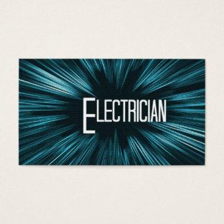 Cartão de visita de brilho do eletricista da