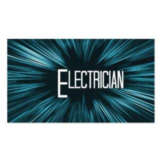 Cartão de visita de brilho do eletricista da estre