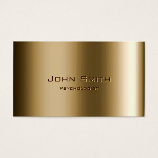 Cartão de visita de bronze do psicólogo do metal