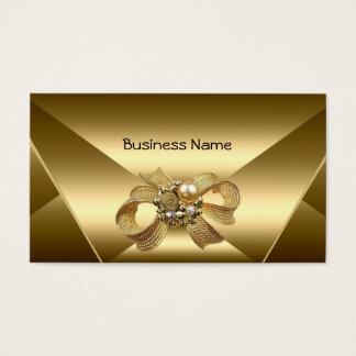 Cartão de visita de bronze elegante da jóia do