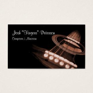 Cartão de visita de Brown do músico da guitarra