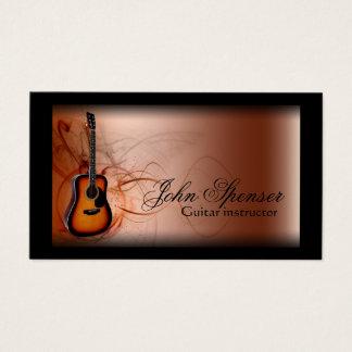 Cartão de visita de Brown do professor de música