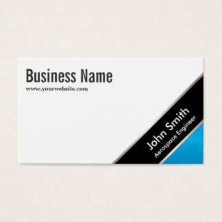 Cartão de visita de canto azul do engenheiro