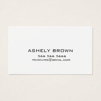 Cartão de visita de chamada